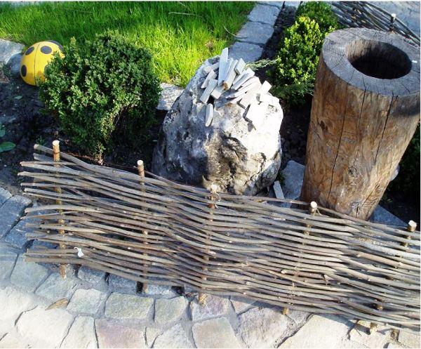плетень на даче фото 11