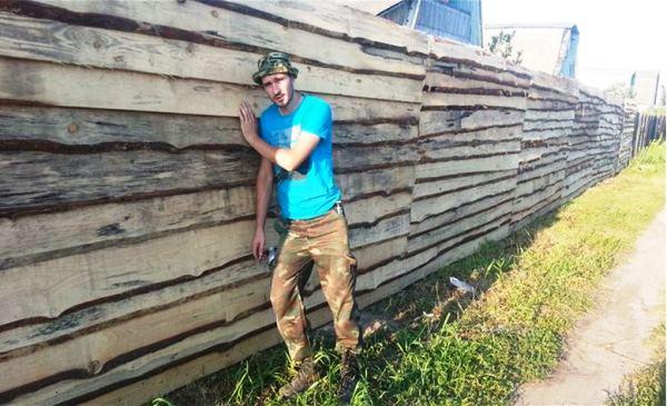 забор из горбыля фото 15