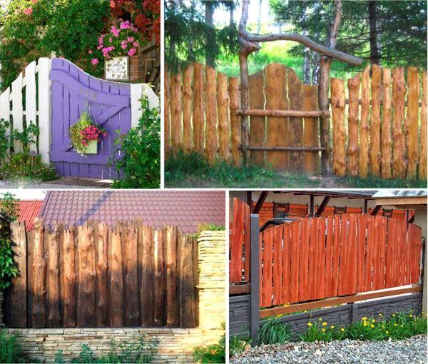 забор из горбыля фото 17