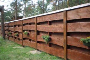 забор из горбыля фото 22