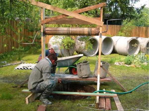 деревянный колодец фото 16