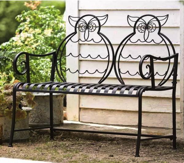 кованые скамейки фото 3
