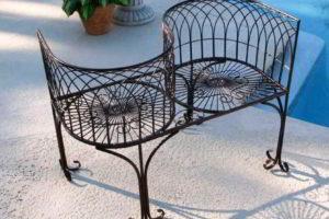 скамейки кованые фото 12