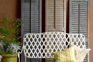скамейки кованые фото 14
