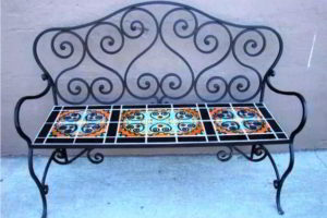 скамейки кованые фото 17