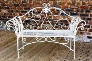 скамейки кованые фото 2