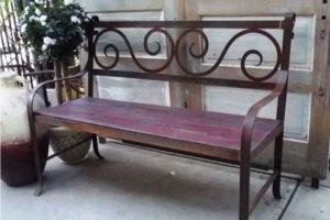 скамейки кованые фото 22