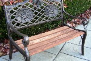 скамейки кованые фото 28