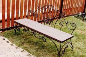 скамейки кованые фото 30