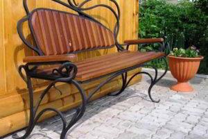 скамейки кованые фото 31