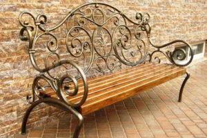 скамейки кованые фото 32