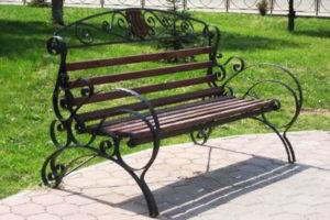 скамейки кованые фото 35