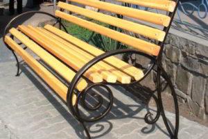 скамейки кованые фото 38