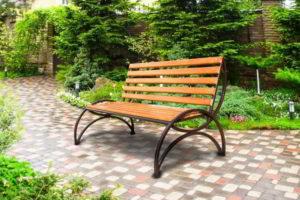 скамейки кованые фото 39