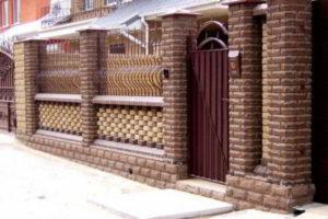 заборы для частного дома из кирпича фото