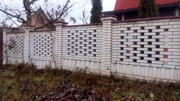 заборы для частного дома из кирпича фото 11