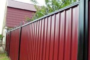 забор из профнастила фото 35