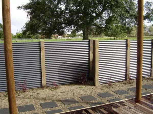 забор из профнастила фото 7